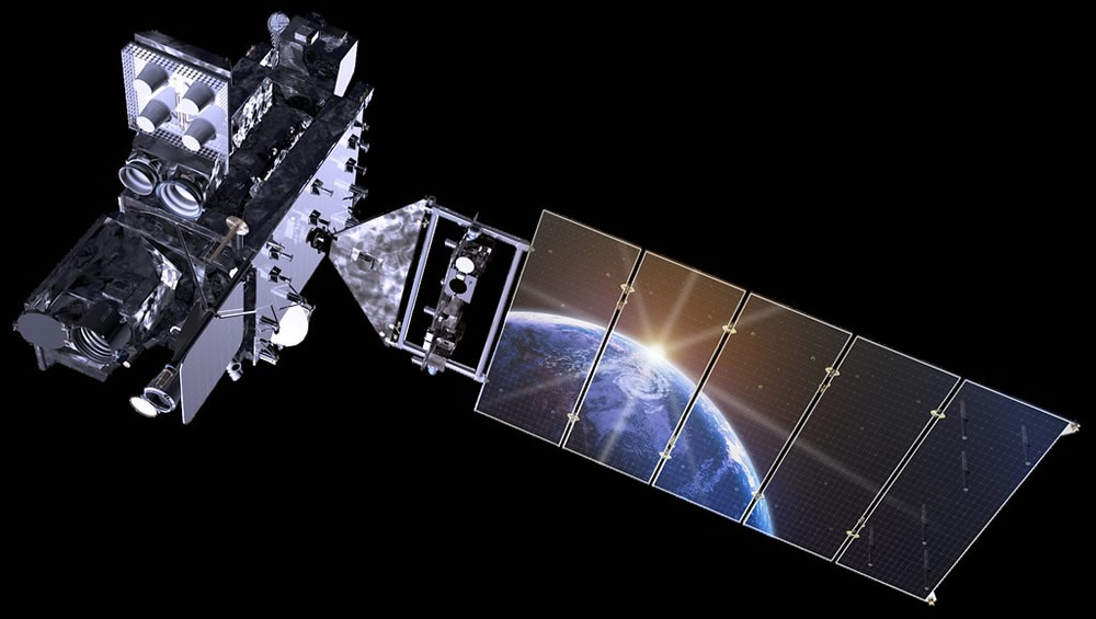 GOES-R Series Spacecraft artist rendering