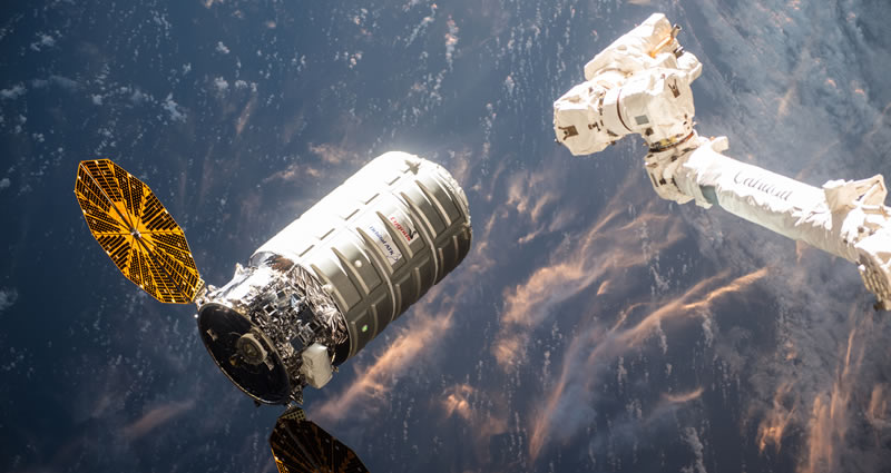 Ground controllers detached Cygnus from the station and maneuvered it into place for its departure. After Cygnus is a safe distance away, ground controllers initiate the sequence for Saffire-1.