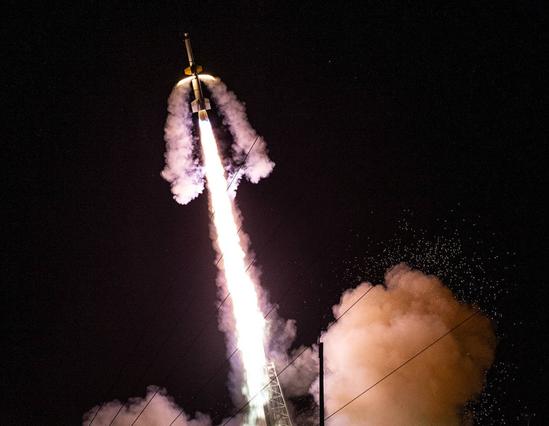 NASA Rocket from Wallops Illuminates Night Sky