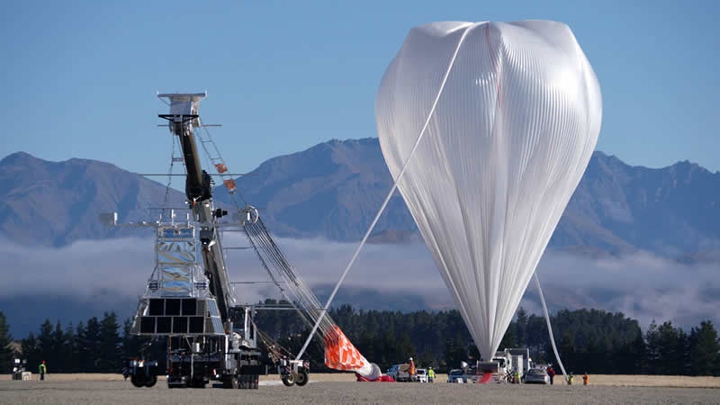 NASA Super Pressure Balloon is shown just before launch